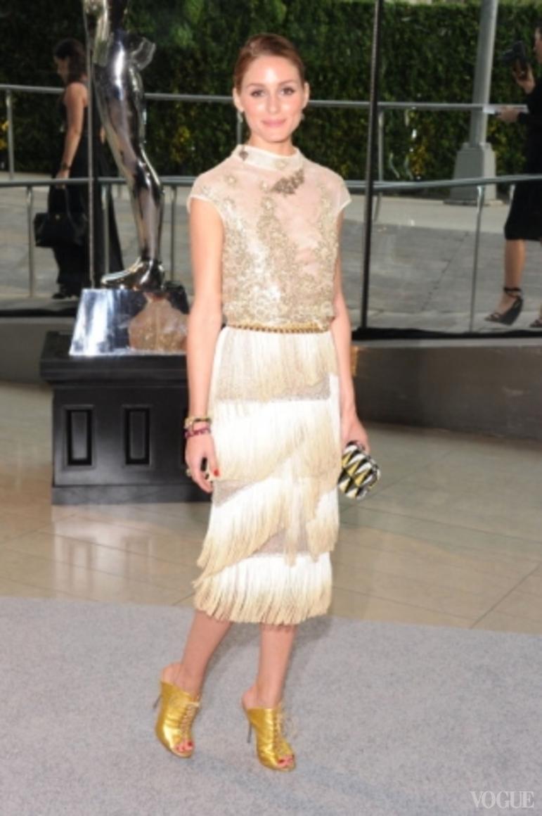 Оливия Палермо в платье Dennis Basso Spring 2013