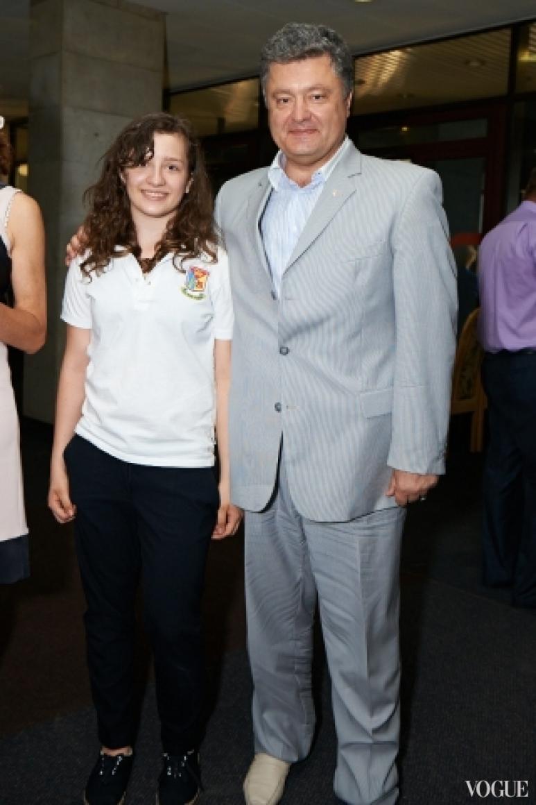 Петр Порошенко с дочерью
