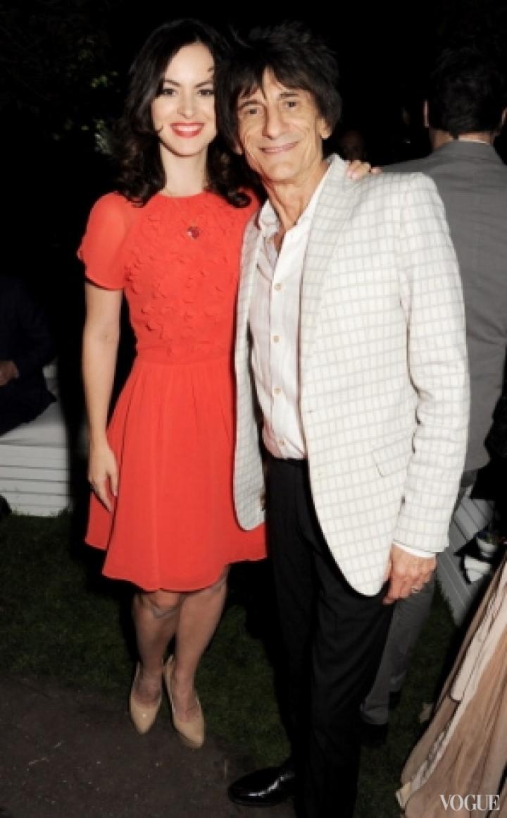 Рон Вуд с женой Салли Хамфрис