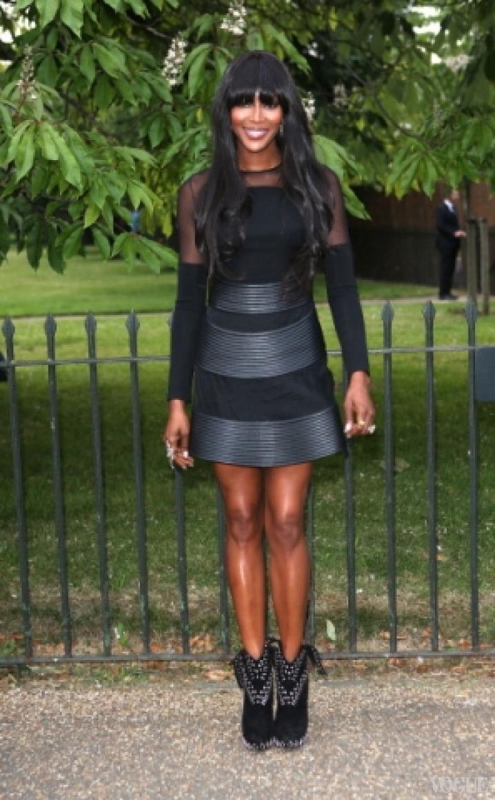Наоми Кэмпбелл в платье David Koma Spring 2013