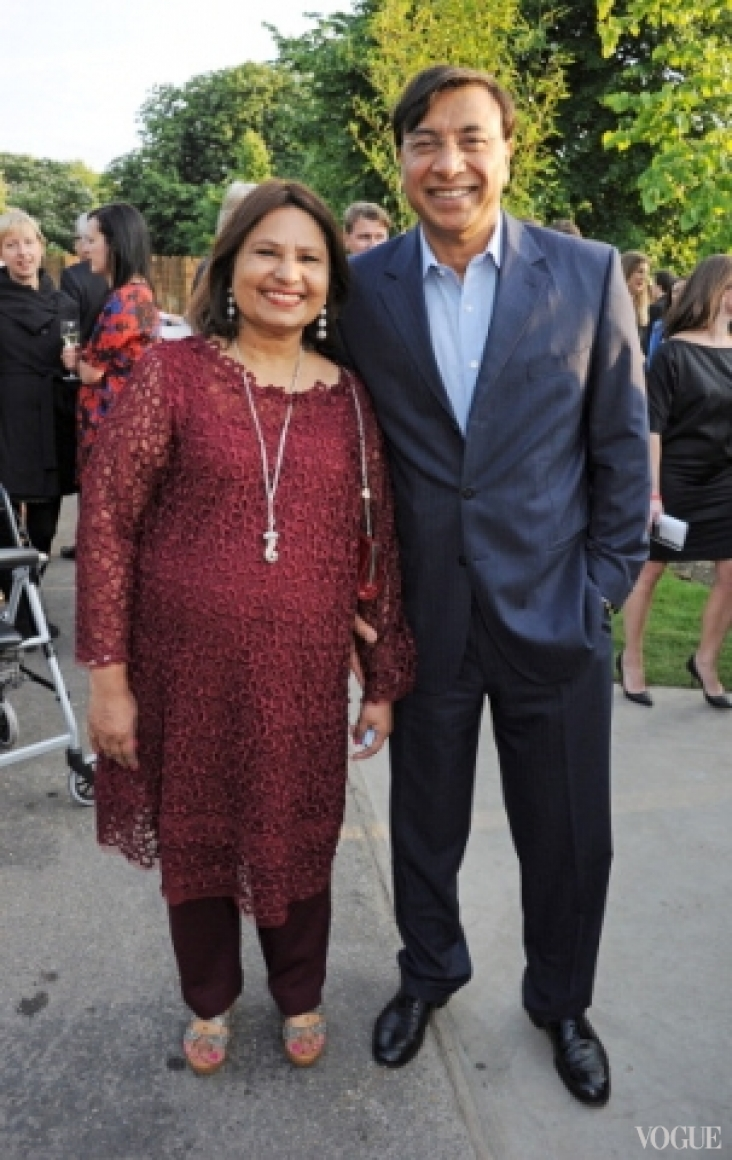 Лакшми Миттал с женой