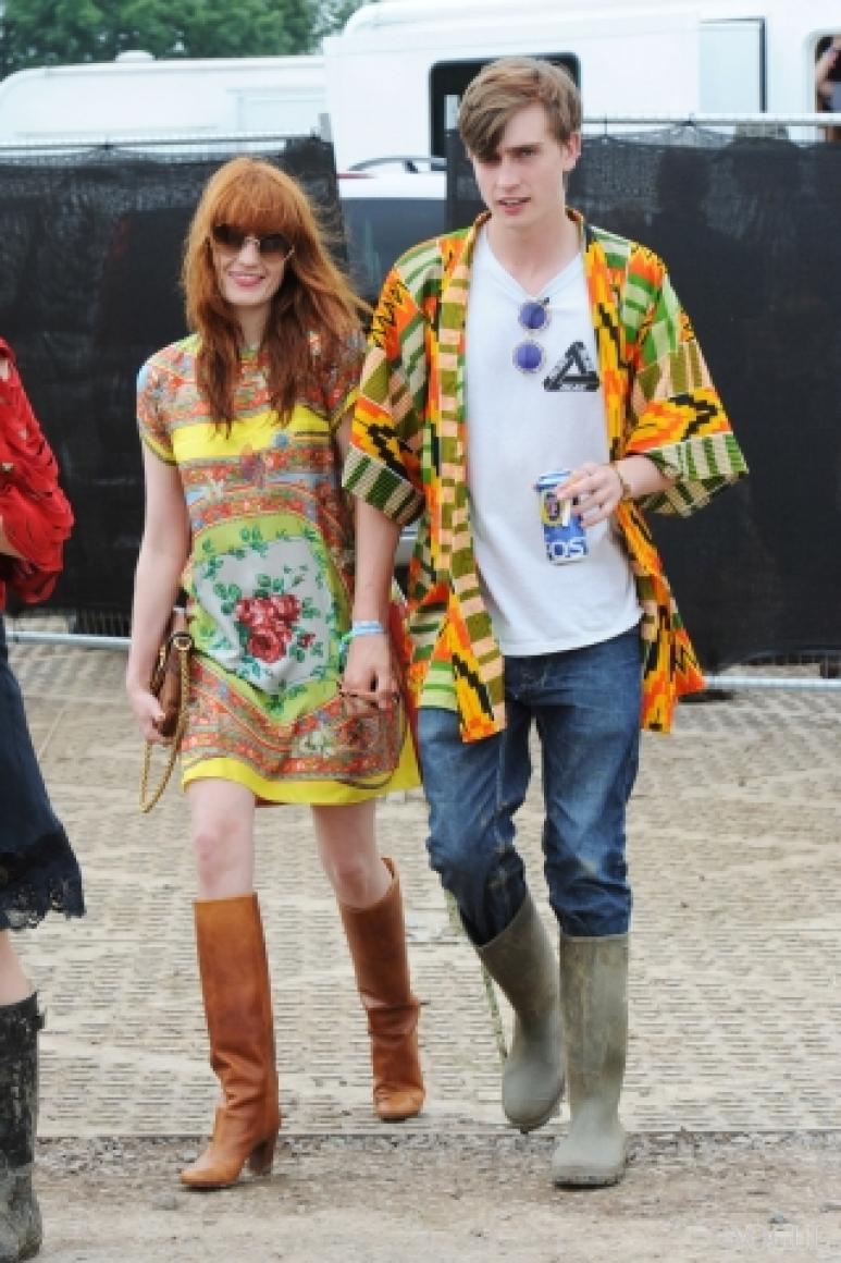 Флоренс Уэлч в платье Dolce & Gabbana
