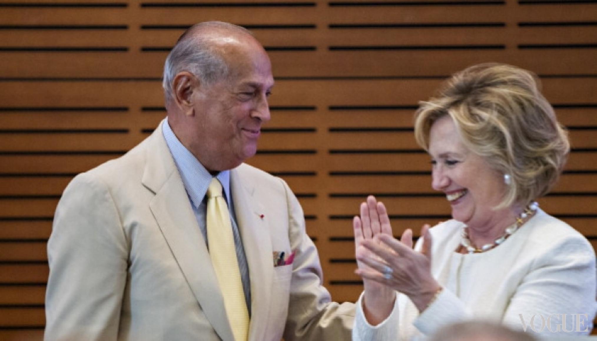 Оскар де ла Рента и Хиллари Клинтон