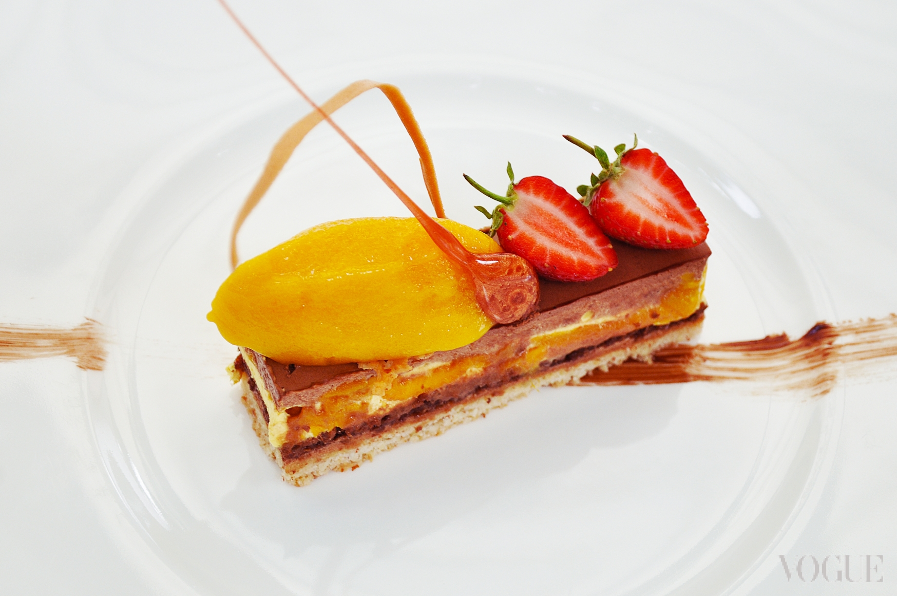 Passionata с мангово-маракуевым сорбетом