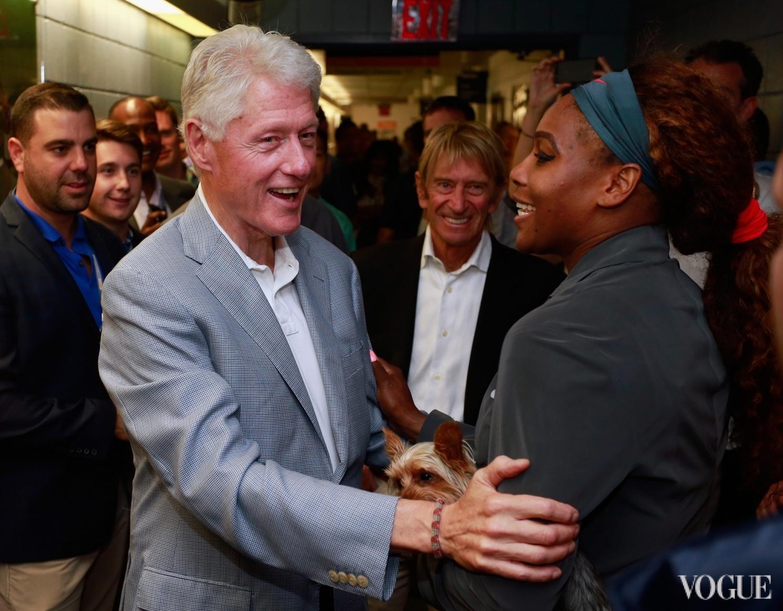 Билл Клинтон и Серена Уильямс