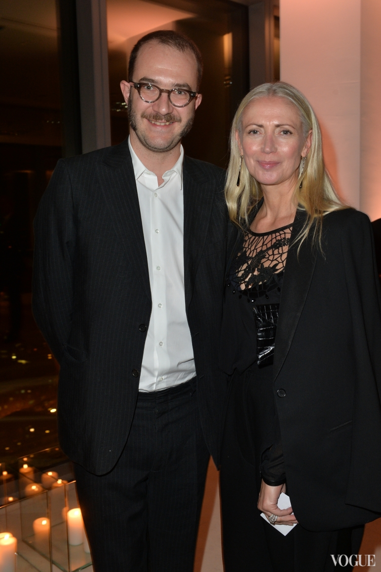 Дизайнер Марко Занини и главный редактор Vogue Германия Кристин Арп