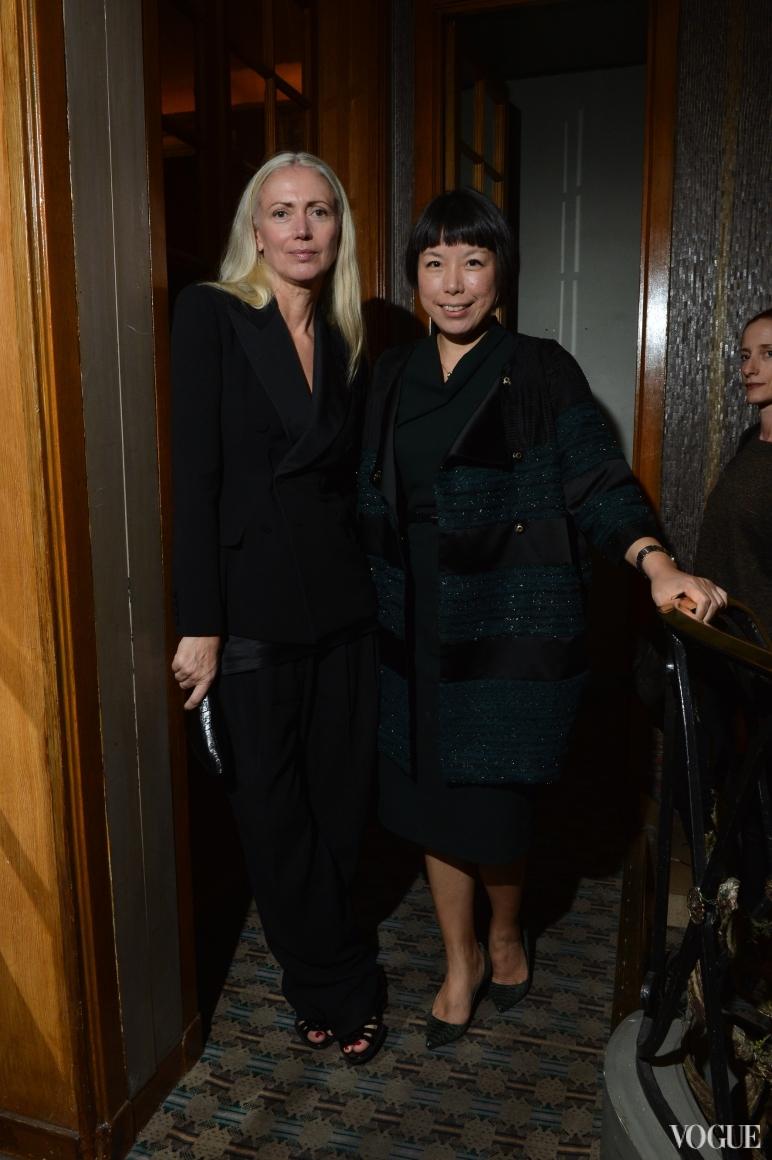 Кристиана Арп (Vogue Германия) и Анжелика Ченг (Vogue Китай)