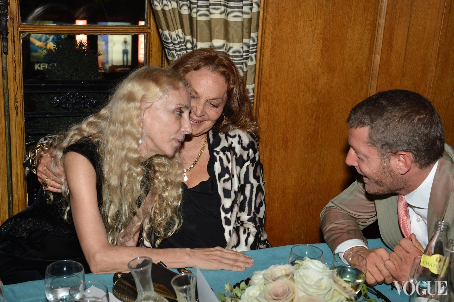 Франка Соццани, Диана фон Фюрстенберг и Лапо Элканн
