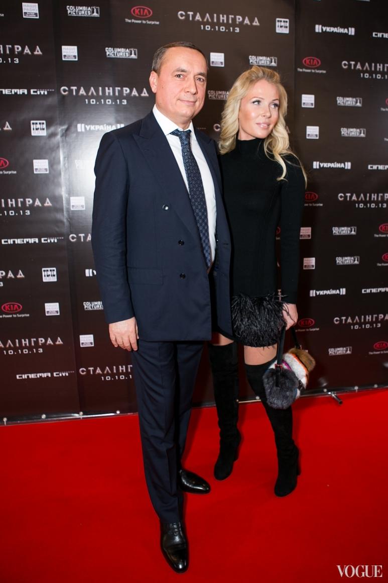 Николай Мартыненко с супругой Анной|Премьера фильма Сталинград