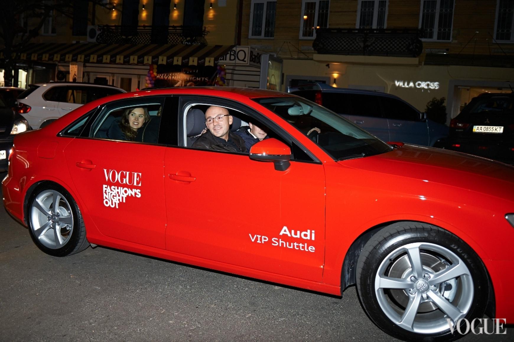 Дмитрий Евенко и Екатерина Марьяш в новой Audi A3 Limousine
