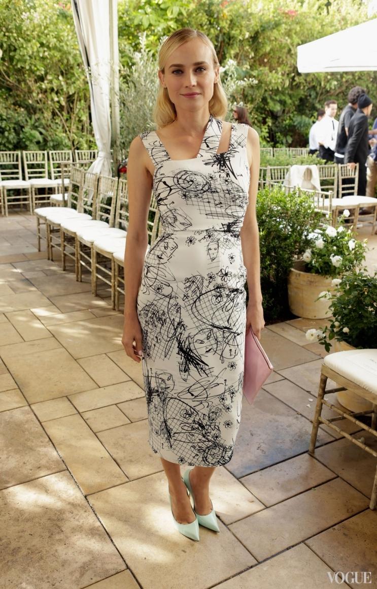 Диана Крюгер в платье Cushnie Et Ochs и туфлях Celine