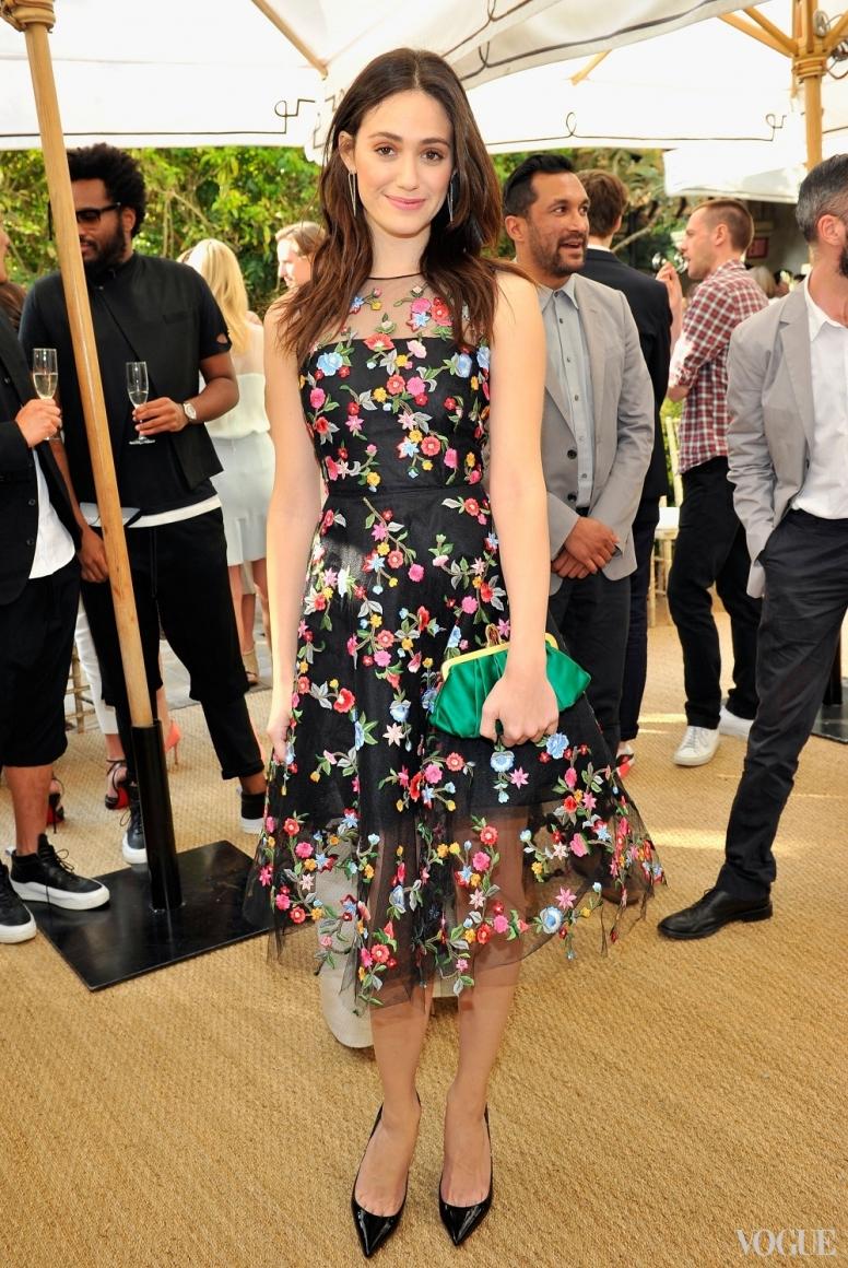 Эмми Россум в платье Oscar de la Renta