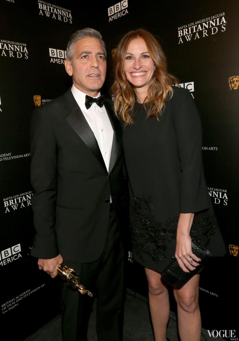 Джордж Клуни и Джулия Робертс в Elie Saab