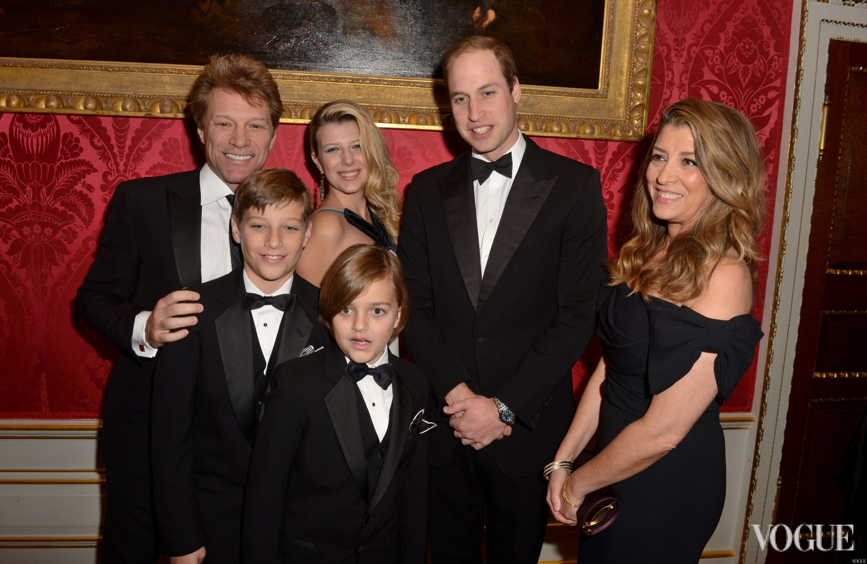 Принц Уильям и Джон Бон Джови с семьей