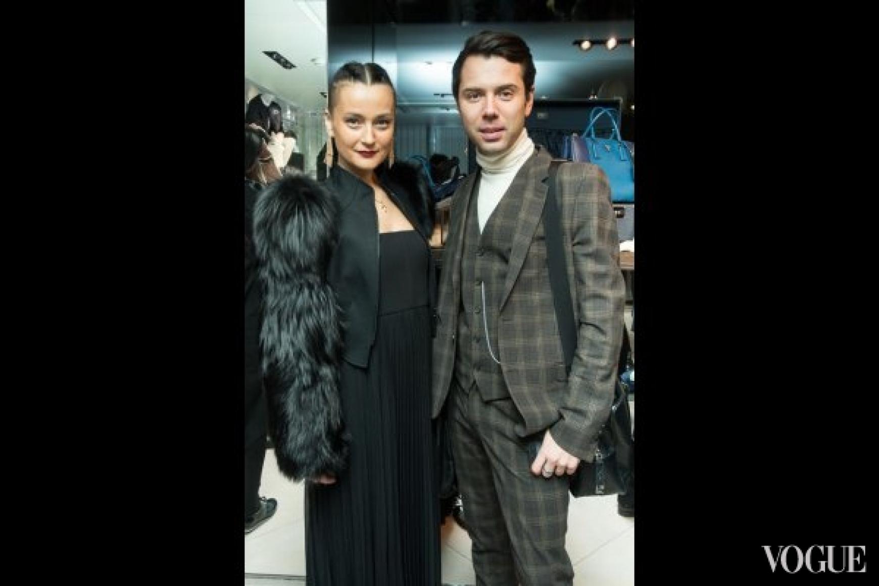Наталья Ичетовкина в Thierry Mugler и Александр Егоров в Louis Vuitton