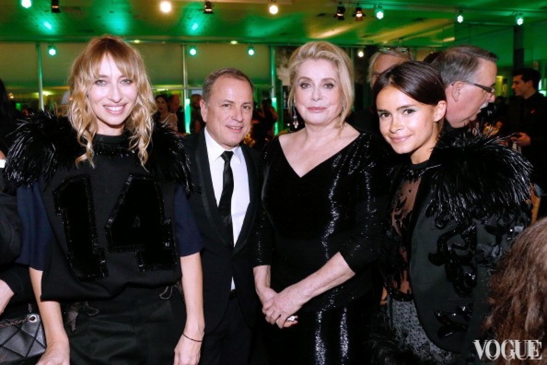 Александра Голованофф, Майкл Берк, Катрин Денев и Мирослава Дума