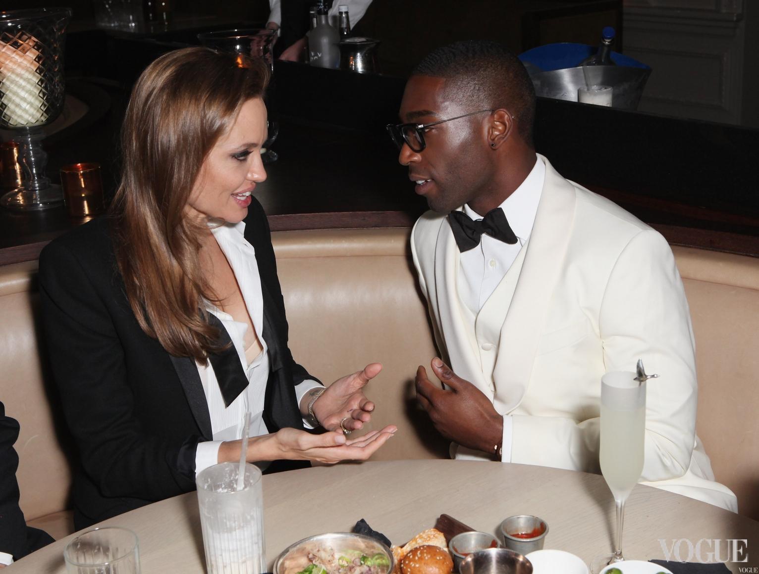 Анджелина Джоли и Тини Темпа на афтер-пати