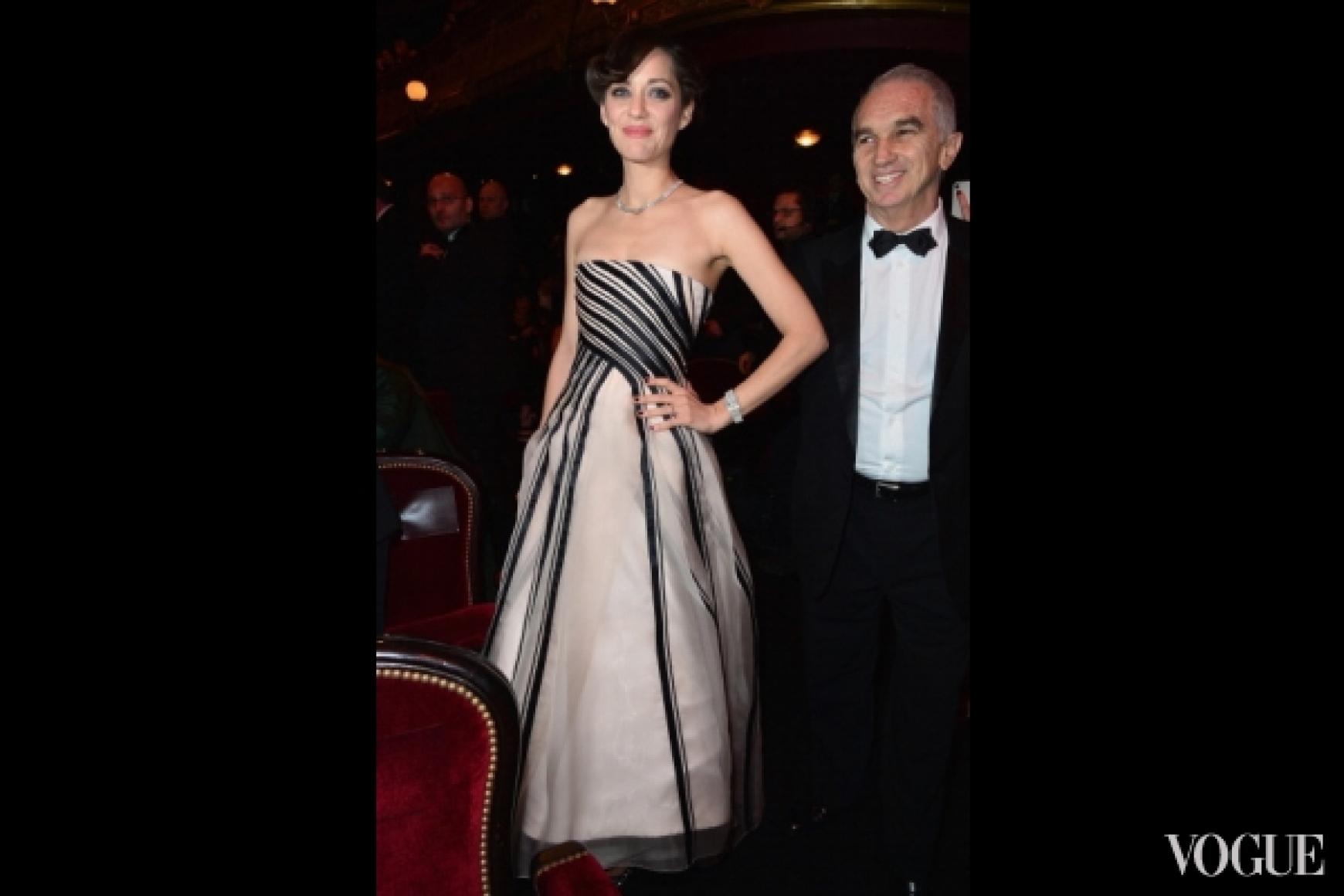 Марион Котийяр в платье Christian Dior Couture