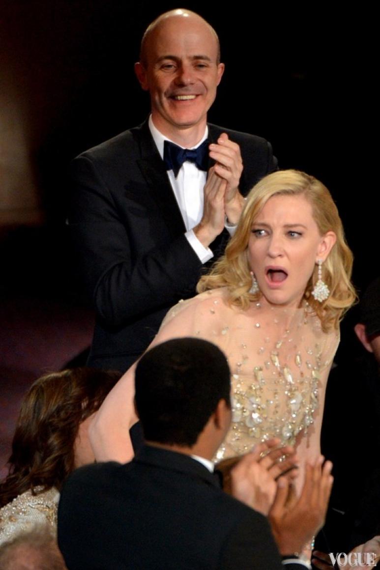 Кейт Бланшетт в момент обьявления ее лучшей актрисой года
