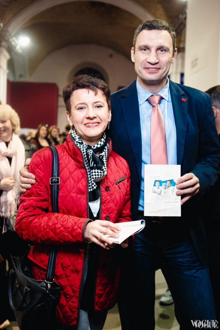 Оксана Забужко и Виталий Кличко