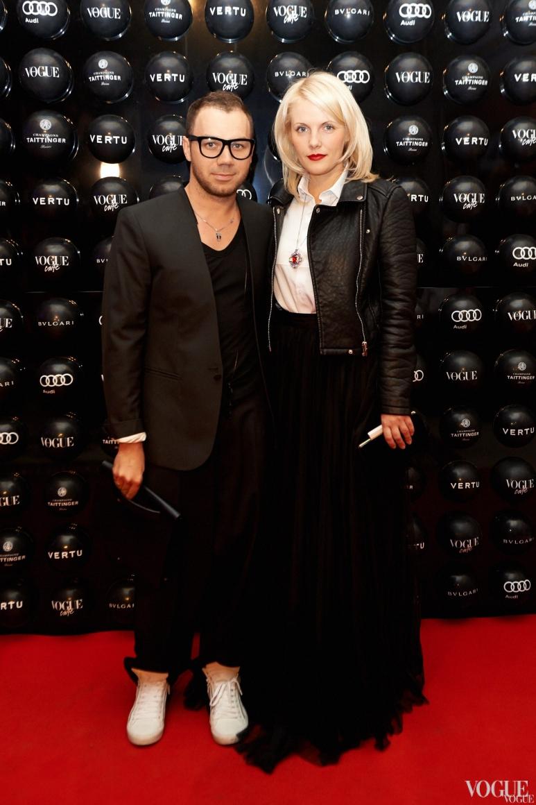 Андре Тан с супругой