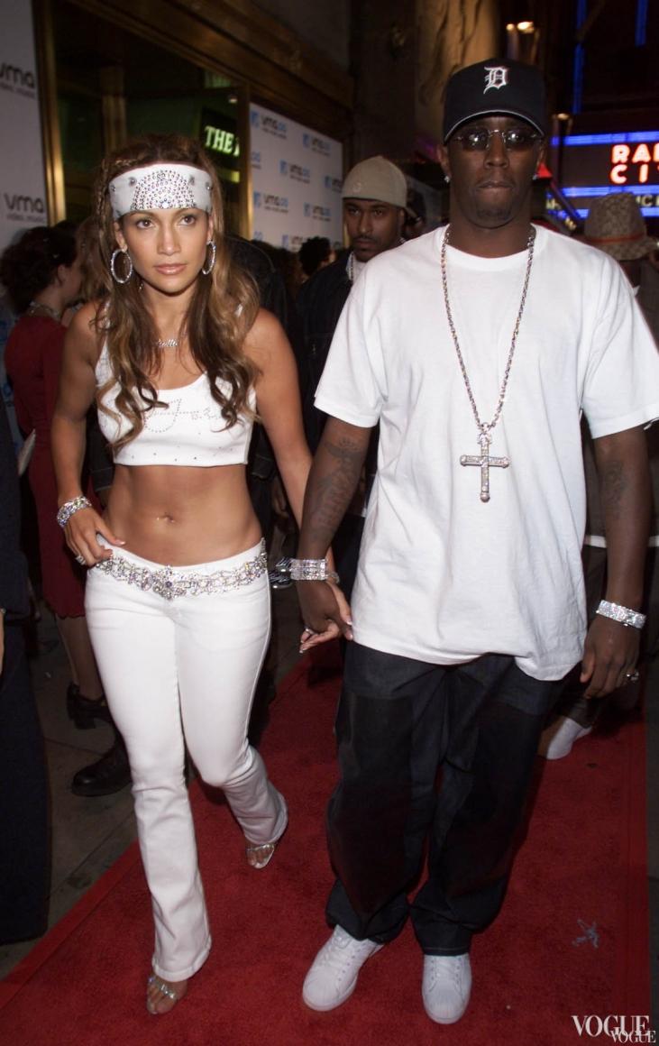 Пара Дженнифер Лопес и P.Diddy на церемонии MTV Video Music Awards 2000