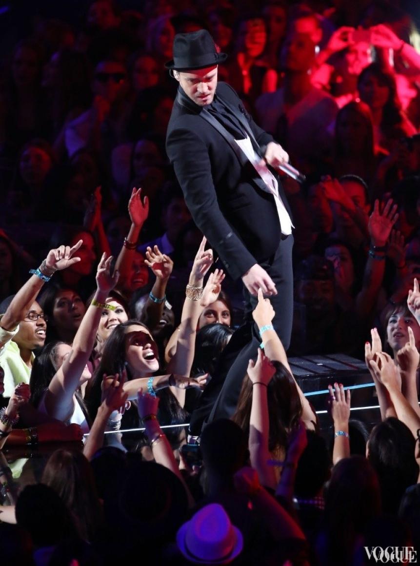 Джастин Тимберлейк на церемонии MTV Video Music Awards 2013