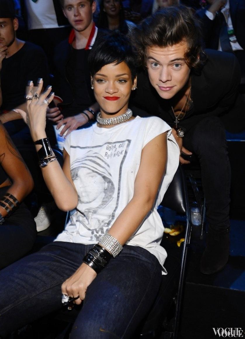Рианна и Гарри Стайлз из One Direction на церемонии MTV Video Awards 2013