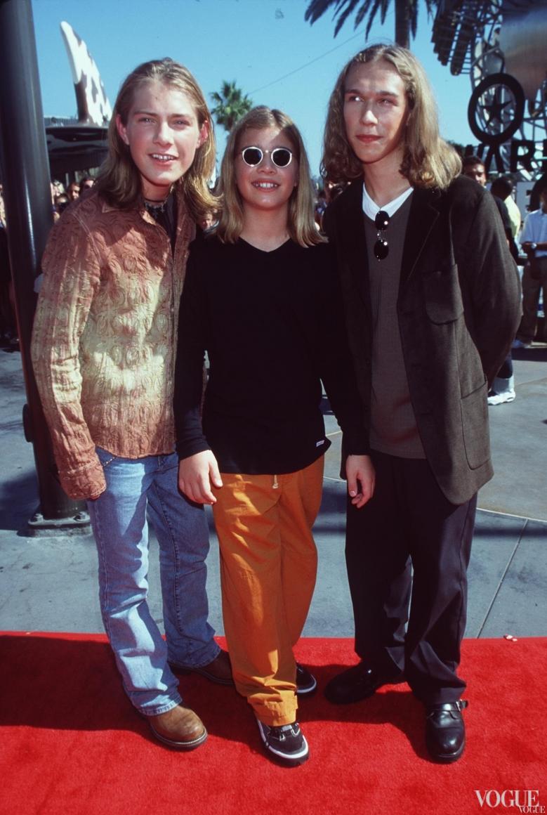 Группа Hanson на церемонии MTV Video Music Awards 1998