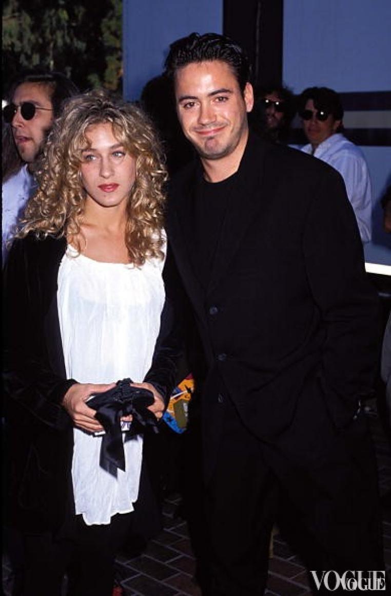 Сара Джессика-Паркер и Роберт Дауни-мл., 1990