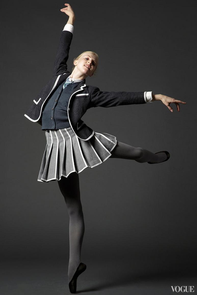 Клэр Кретчмар в костюме Thom Browne