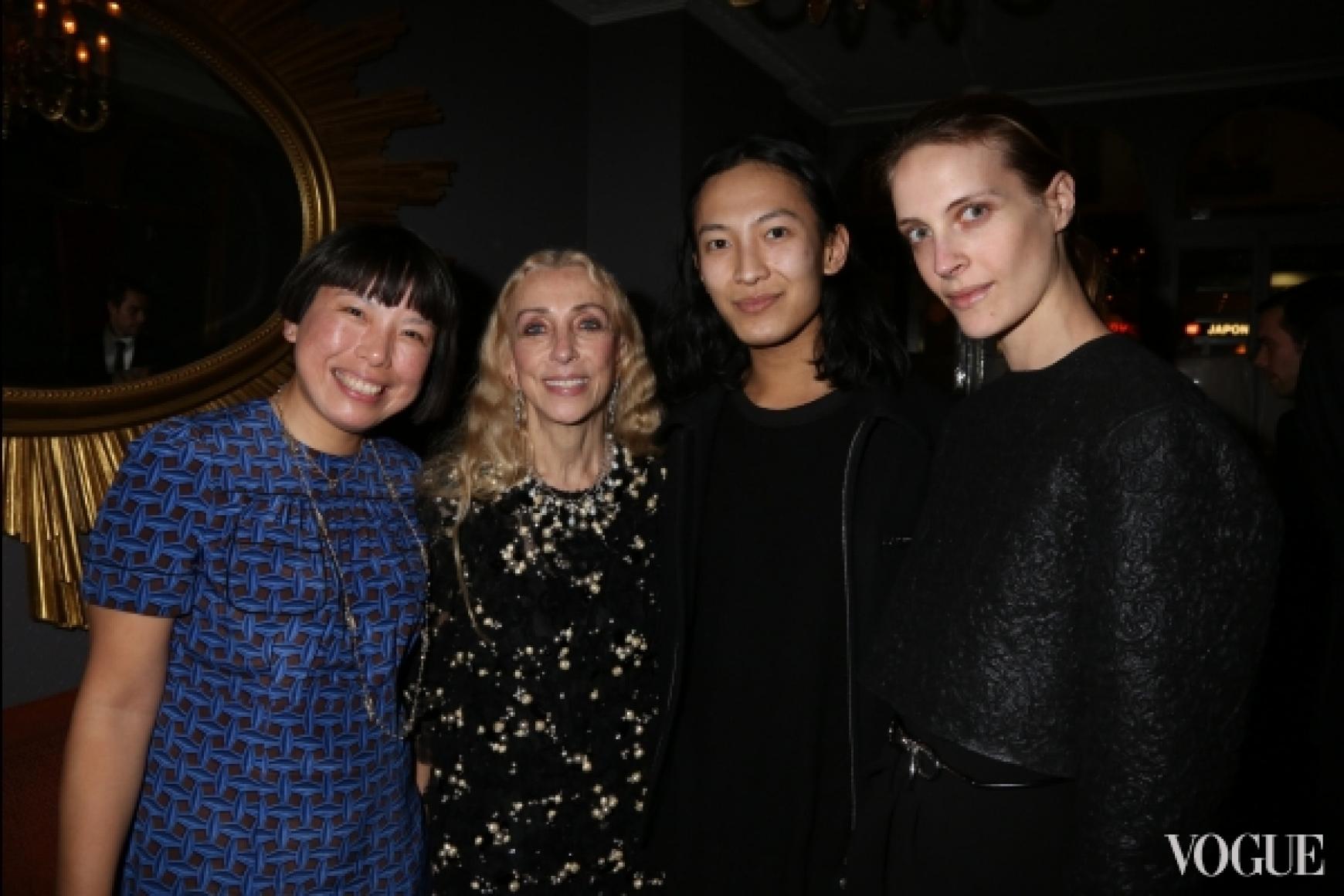 Анжелика Ченг (Vogue China), Франка Соццани (Vogue Italy), Александр Вэнг, Ванесса Траина