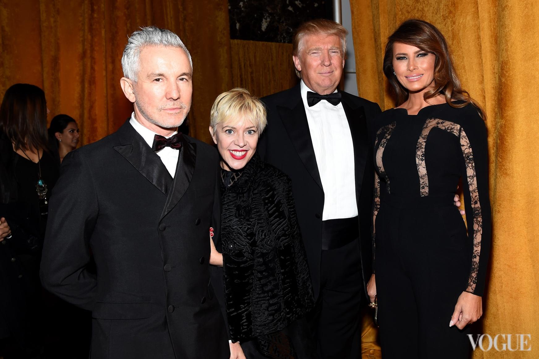 Баз Лурман, Кэтрин Мартин, Дональд и Мелания Трамп