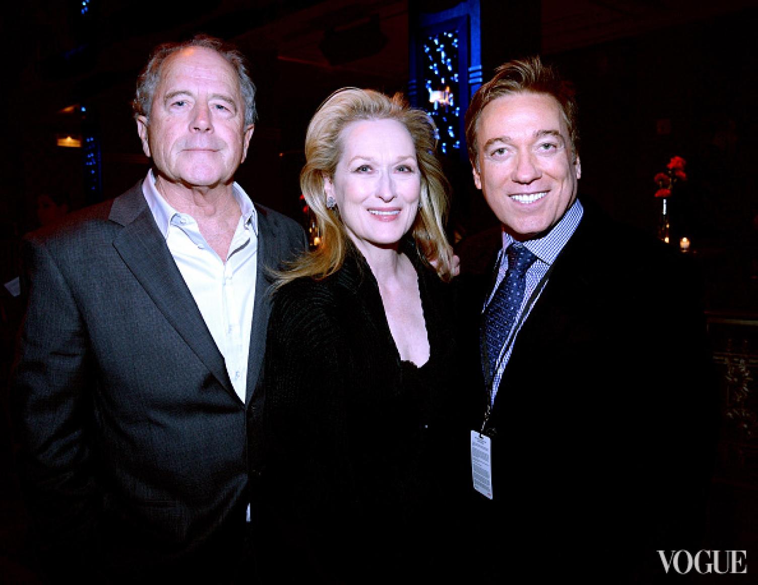 Мэрил Стрип, ее супруг Дон Гаммер (слева) и Кевин Хавана