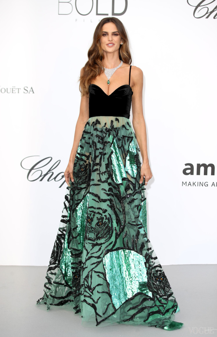 Изабель Гулар в Valentino и украшениях Chopard