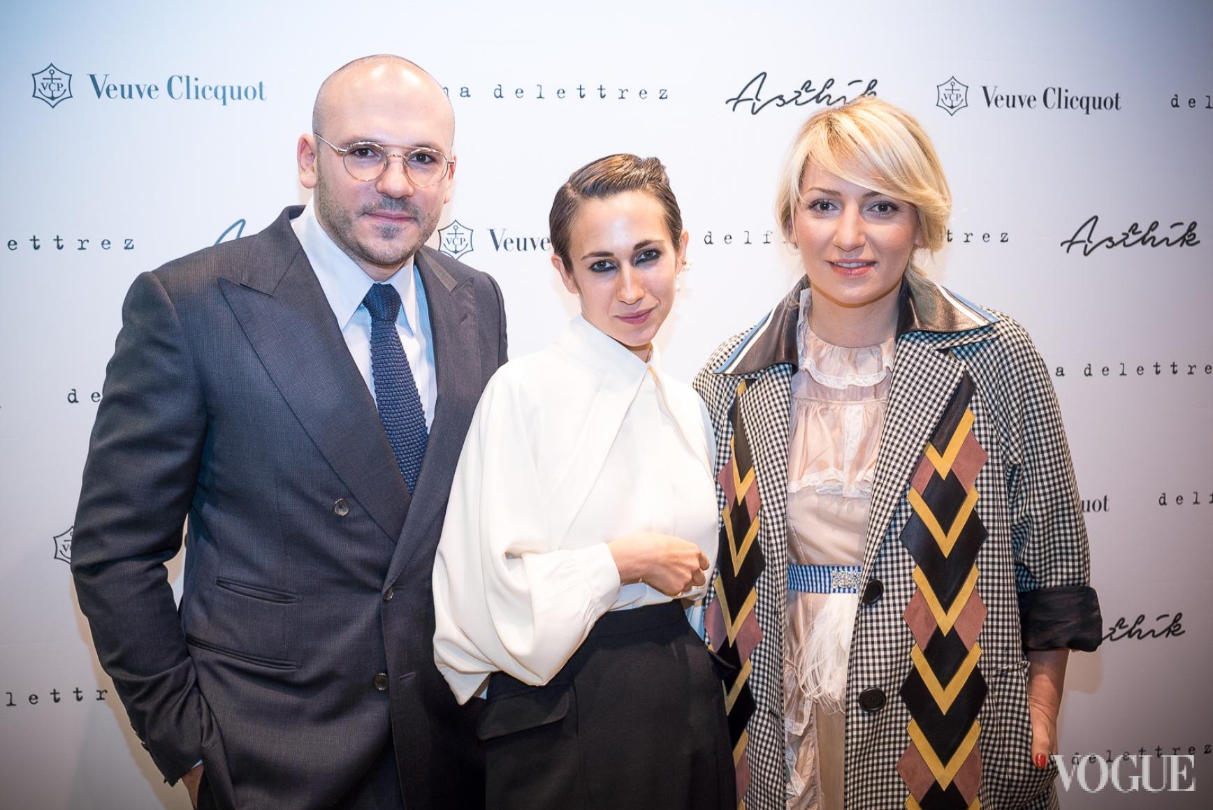 Дмитрий Евенко, Дельфина Делеттре и Ася Мхитарян
