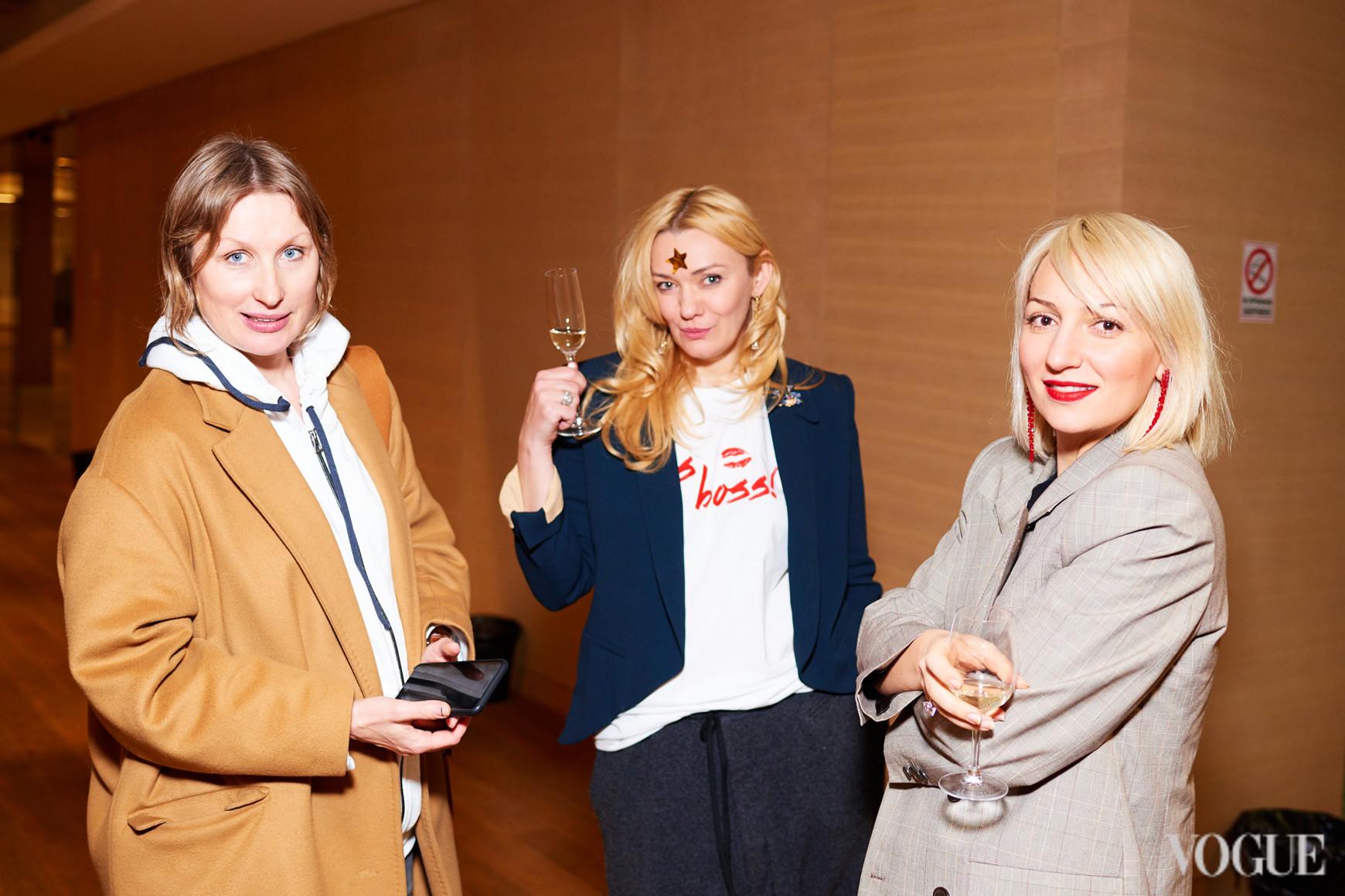 Ольга Козловская, Ирина Ковальчук и Ася Мхитарян