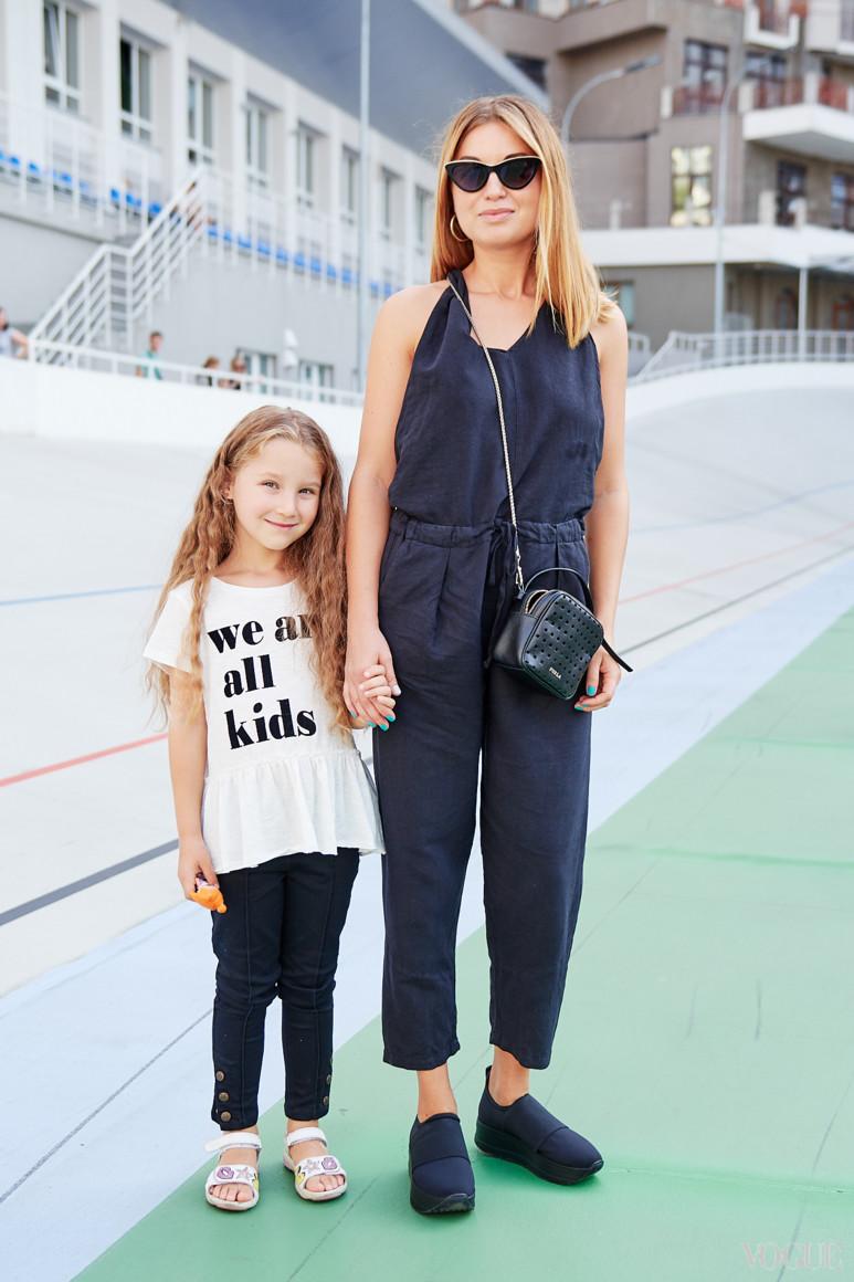 Елена Добрынская с дочерью Миланой