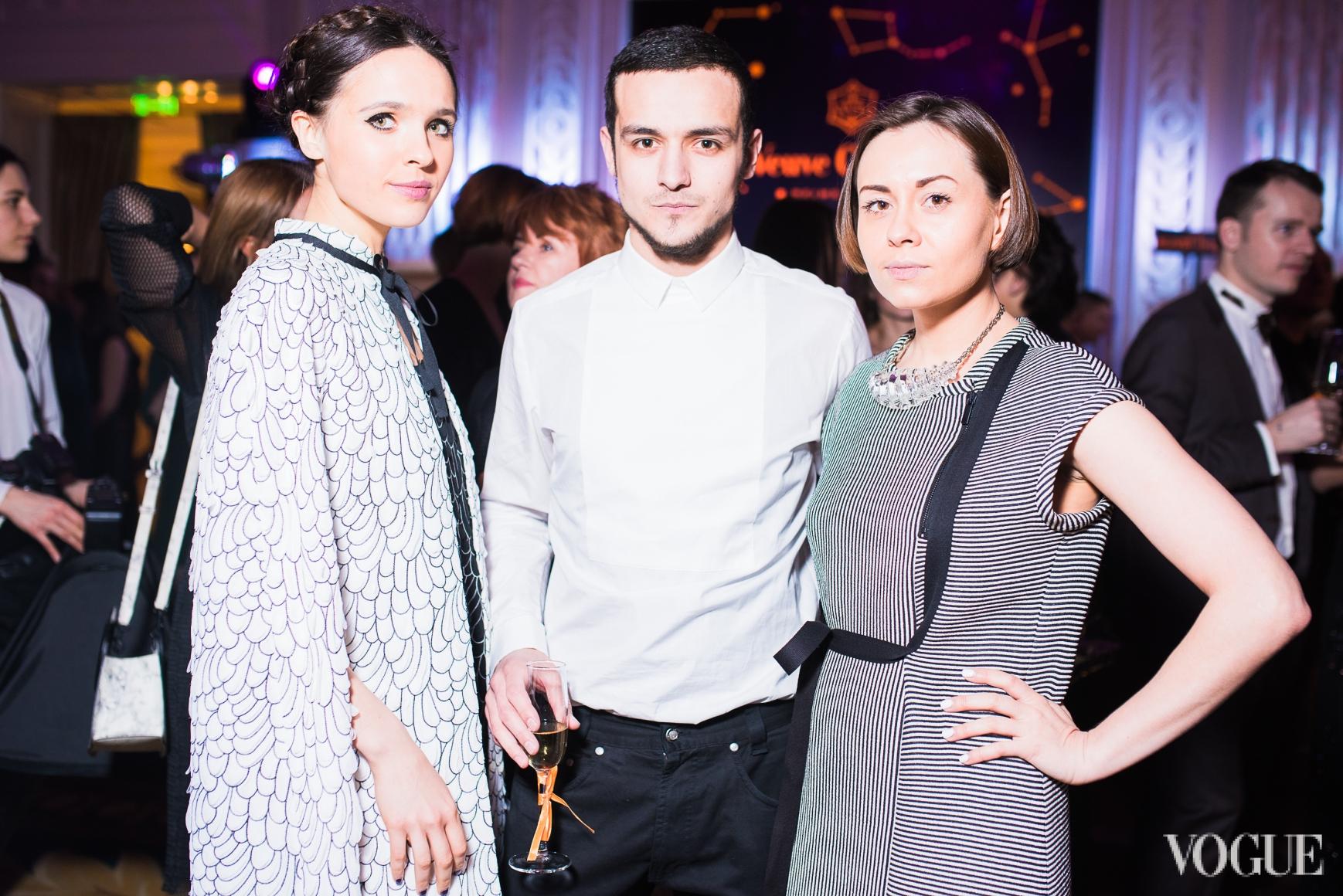 Яна Червинская, Али Саулиди и Елена Пржонская