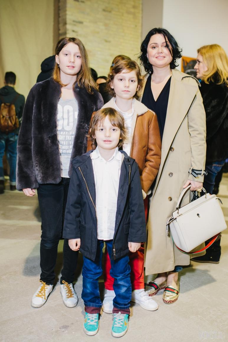 Хрыстя Храновская с детьми