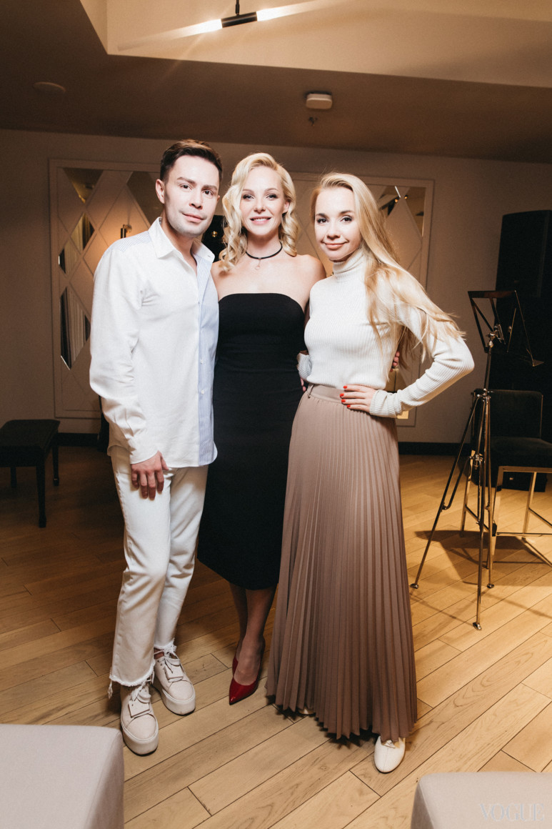 Алексей Прищепа, Дарья Трегубова и Ирина Турбаевская