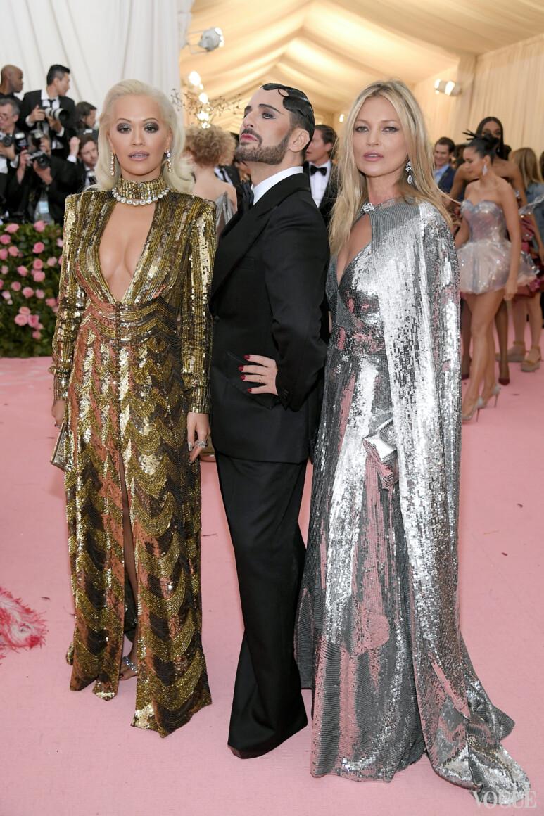 Рита Ора, Марк Джейкобс и Кейт Мосс, все в Marc Jacobs
