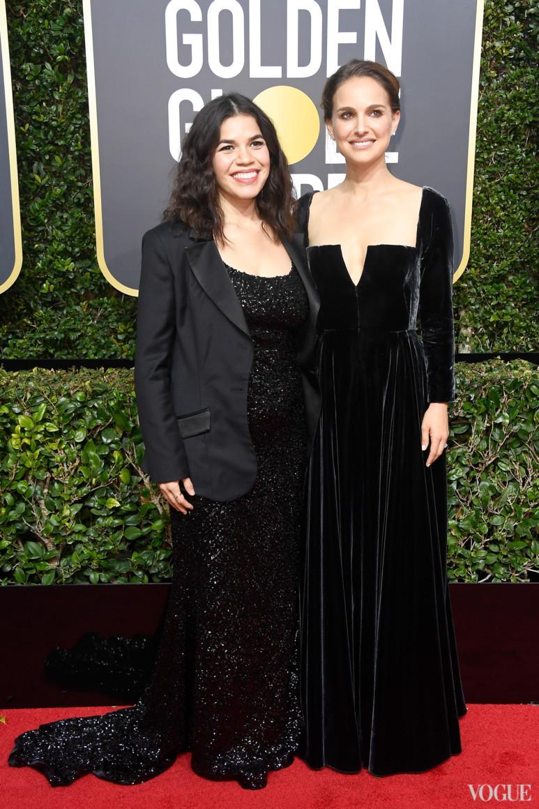 Америка Феррера и Натали Портман в Dior Haute Couture