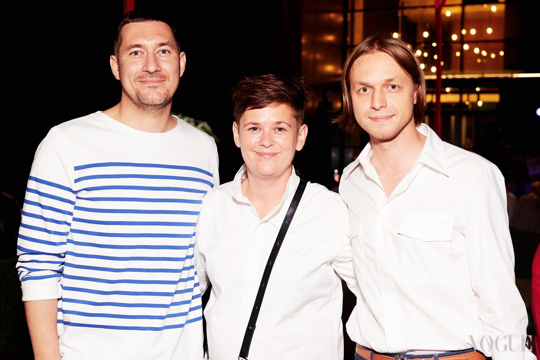 Александр Онацкий, Юлия Макгаффи и Евгений Примаченко