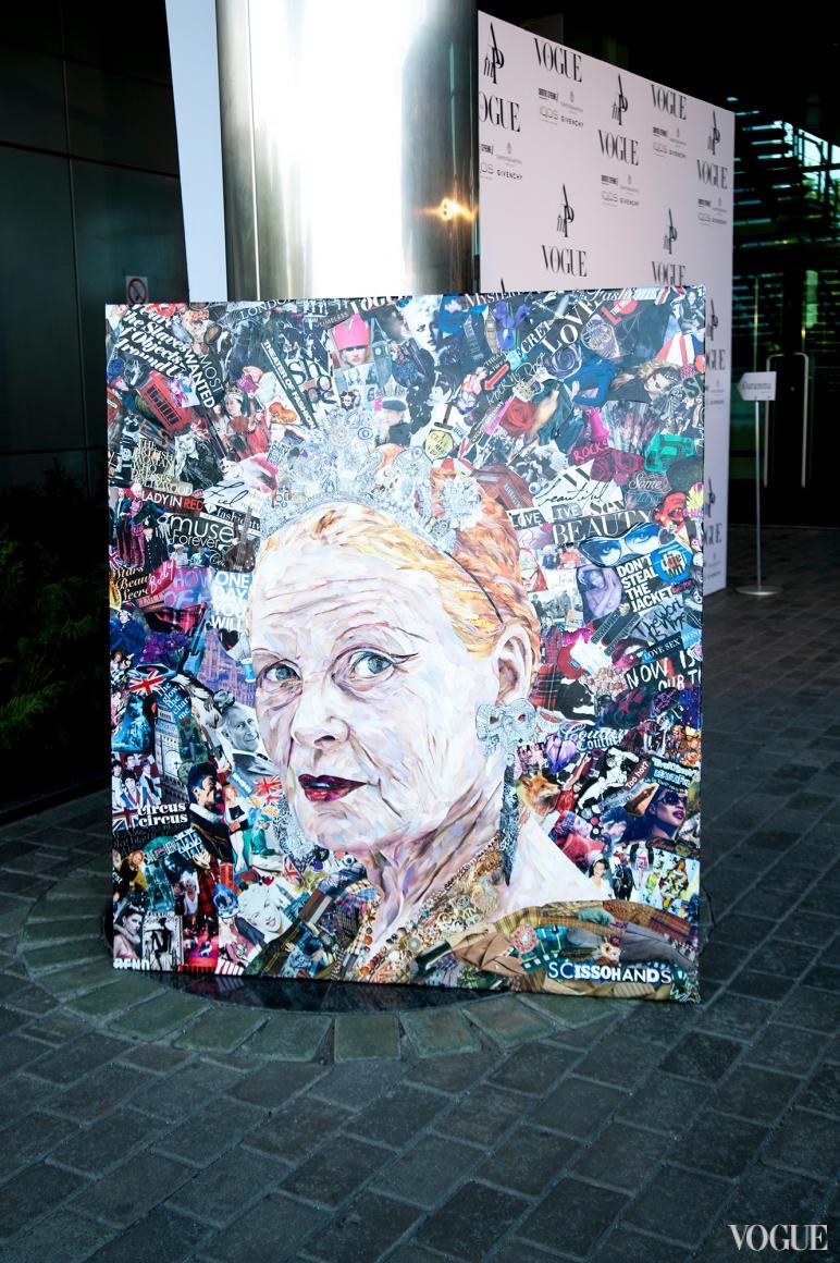 Алина Пивненко (Scissorhands) Vivi, 2012 Холст, глянцевая бумага, коллаж, 140 х 100 см
