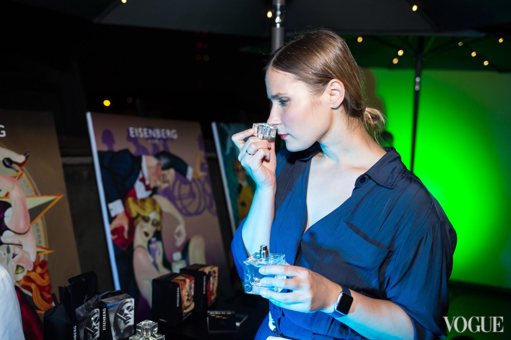 Полина Митлошук на презентации ароматов Eisenberg Paris