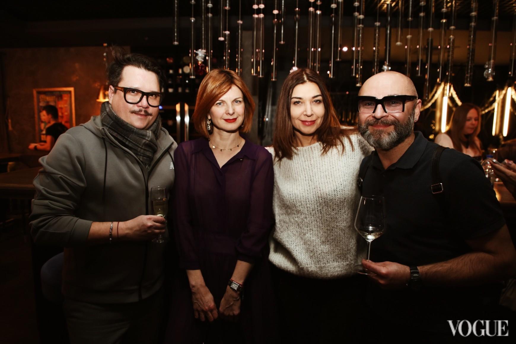 Серж Пайе, Екатерина Кулик, Ольга Дашкиева и Серж Смолин