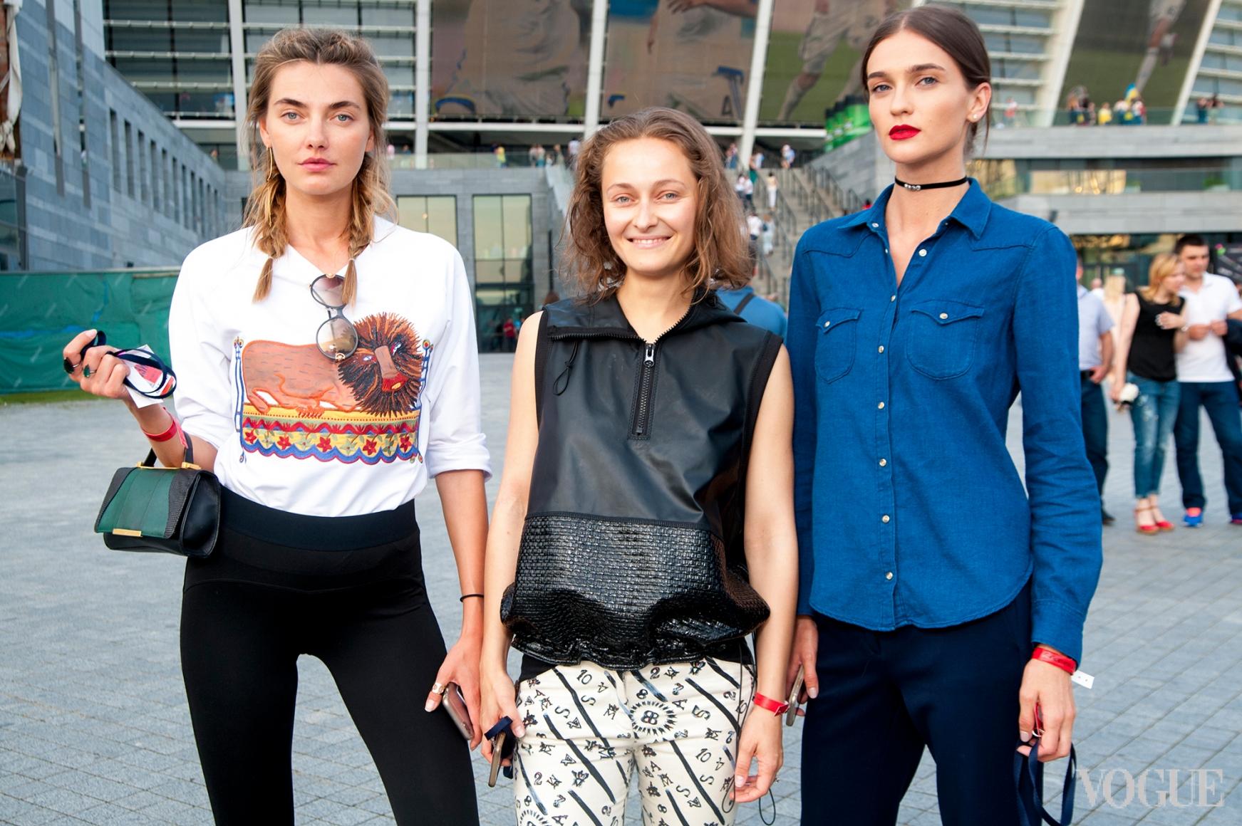 Алина Байкова, Дарья Шаповалова и Элла Кандыба