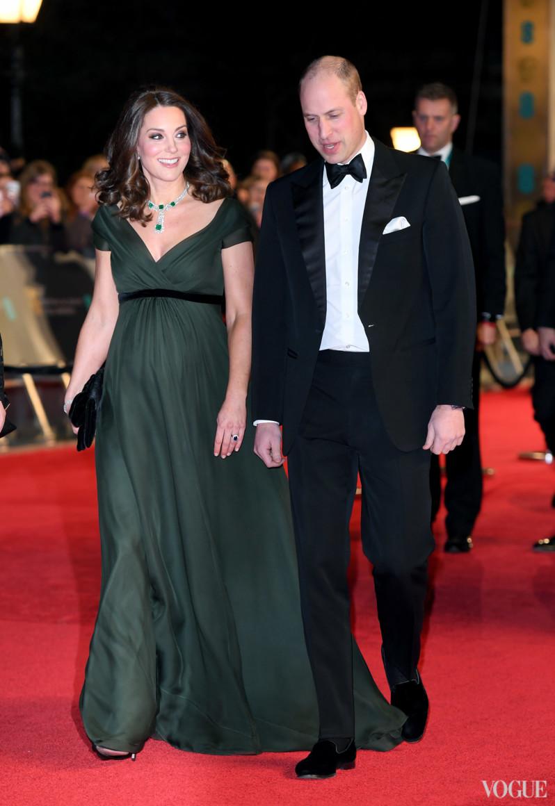 Герцогиня Кэтрин в Jenny Packham и принц Уильям