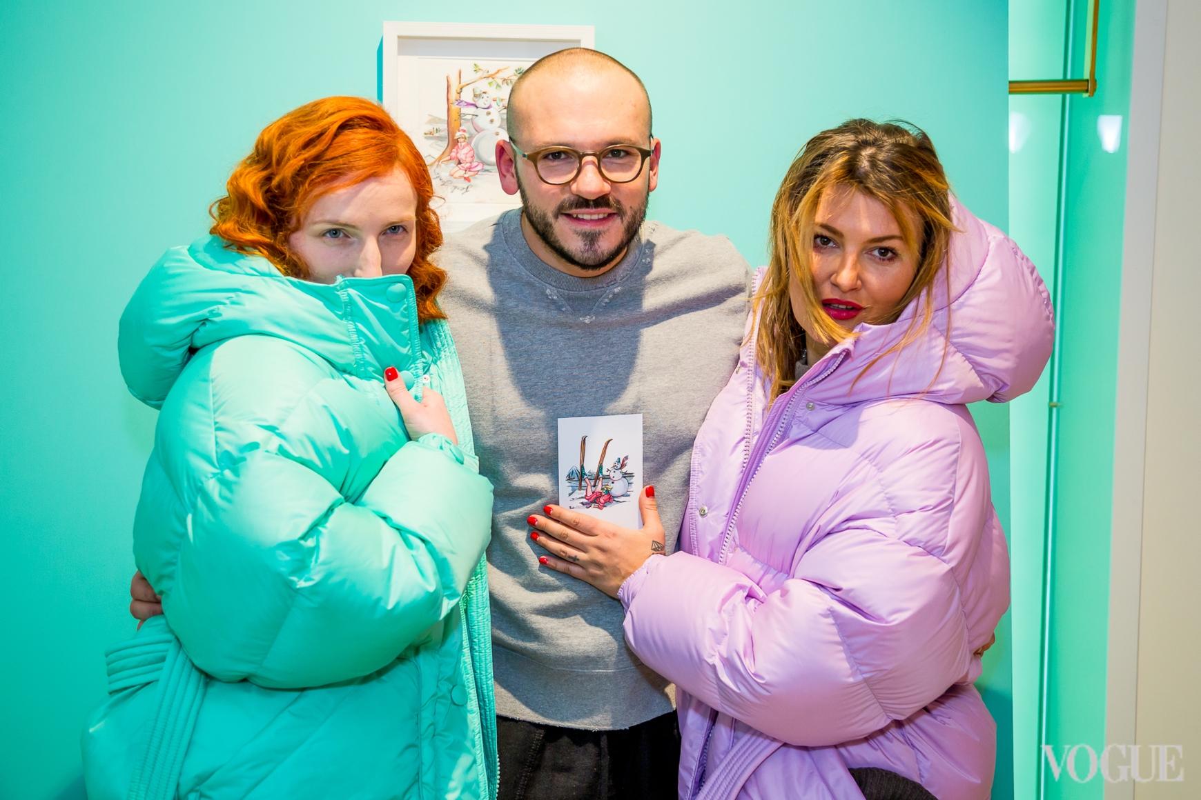 Любовь Кучерявая, Дмитрий Евенко и Маша Шубина